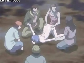 ICEPORN @ Anime Babe Gangbanged And Bukkaked Outdoor