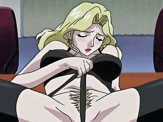 VIPTUBE @ Big Titted Hentai Blondie Satisfying Man