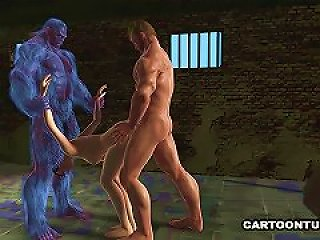 XHAMSTER @ 3d Cartoon Babe Fucked By Two Mutants